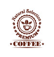 premium coffee shop or cafeteria icon vector image vector image