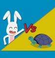 rabbit versus tortoise cartoon vector image vector image