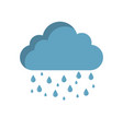 rainy cloud icon in flat style isolated vector image