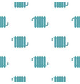 Retro iron central heating battery pattern vector image