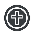 Round black christian cross sign vector image vector image