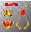 royal transparent set vector image vector image