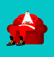 santa play video games claus and joystick vector image
