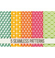 seamless geometric patterns vector image vector image