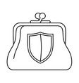 secure purse icon outline style vector image
