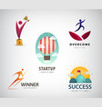 set business concept logos startup vector image