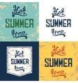 set four hot summer time backgrounds vector image