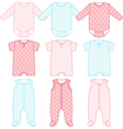 Set of child wear vector image