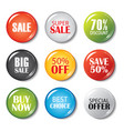 set sale buttons and badges product vector image vector image