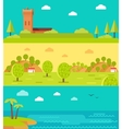 Summer Vacation Touristic Landscapes Set vector image vector image