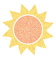 sun composition of small circles vector image vector image