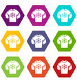 sweater icons set 9 vector image vector image
