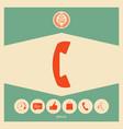 telephone handset telephone receiver symbol vector image vector image