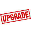 upgrade red square grunge stamp on white vector image vector image