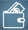 wallet icon vector image