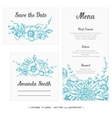 wedding set menu save date guest card vector image