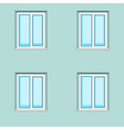Windows on wall background vector image vector image