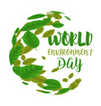 world environment day round frame consisting of vector image vector image
