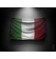 waving flag italy on a dark wall vector image