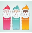 Christmas banners set with Santa Claus vector image