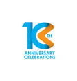 10 years anniversary celebrating template design vector image vector image