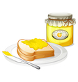 A lemon jam with bread vector image vector image