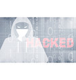 abatract background hacker attack theme vector image vector image