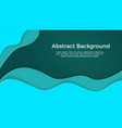 abstract background tosca liquid paper cut vector image vector image