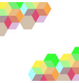 abstract colorful geometric on white background vector image vector image
