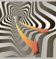 arrows in stellar tunnels vector image vector image