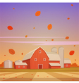 Autumn Farm Landscape vector image