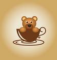 bear logo coffee vector image