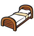 bed and pillow vector image