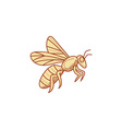 Bee Flying Mono Line vector image vector image