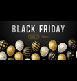 black friday sale horizontal banner with black vector image vector image