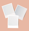 blank retro foto frame collection with shadow vector image vector image