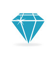 blue shiny diamond vector image