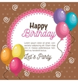 card happy birthday balloons graphic vector image