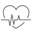 cardiology wave monitor heart icon black on white vector image vector image