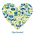 Carnival in heart vector image vector image
