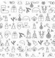 christmas icons seamless pattern happy winter vector image vector image
