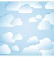 Clouds background vector image vector image