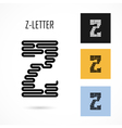 Creative Z - letter icon abstract logo design vector image vector image