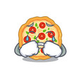 crying margherita pizza isolated with cartoons vector image vector image