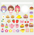 cute sweets clip art set vector image vector image