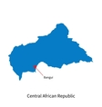 Detailed map of Central African Republic and vector image vector image