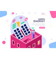 digital solar building isometric vector image