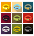 dog collar icon in cartoon style for web vector image vector image