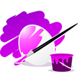 Easter egg with paint vector image vector image