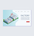 factory building webpage template concept vector image